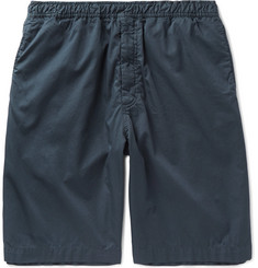 Our Legacy Washed-Cotton Satin Drawstring Shorts