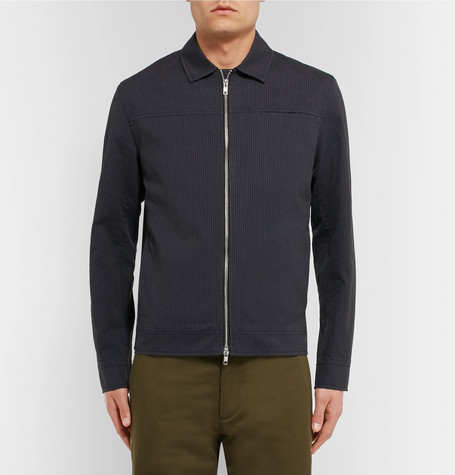 OLIVER SPENCER Buck Pinstriped Cotton Jacket