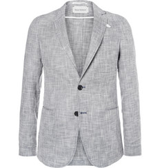 Oliver Spencer Theobald Unstructured Linen and Cotton-Blend Blazer