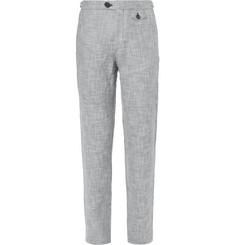 Oliver Spencer Tab Linen and Cotton-Blend Trousers