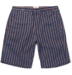 Oliver Spencer - Striped Cotton-Jacquard Shorts