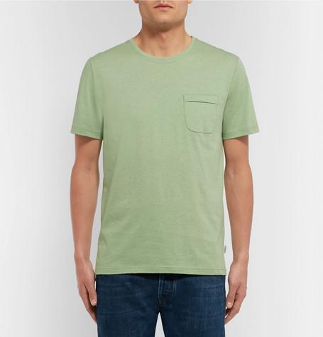 OLIVER SPENCER Envelope Mélange Cotton-Jersey T-Shirt