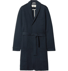 Oliver Spencer Loungewear Quilted Cotton-Blend Jersey Robe