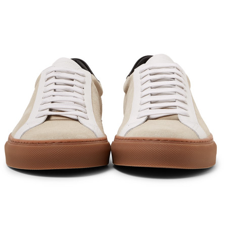 Urban Street Leather And Suede Sneakers - Ecru