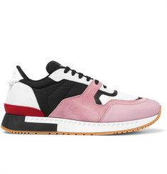 Givenchy Panelled Mesh, Leather and Suede Sneakers