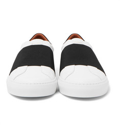 Givenchy - Elasticated-Strap Leather Sneakers