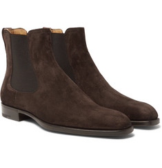Berluti Leather-Trimmed Suede Chelsea Boots