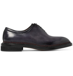 Berluti Whole-Cut Polished-Leather Oxford Shoes