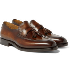 Berluti - Polished-Leather Tasselled Loafers