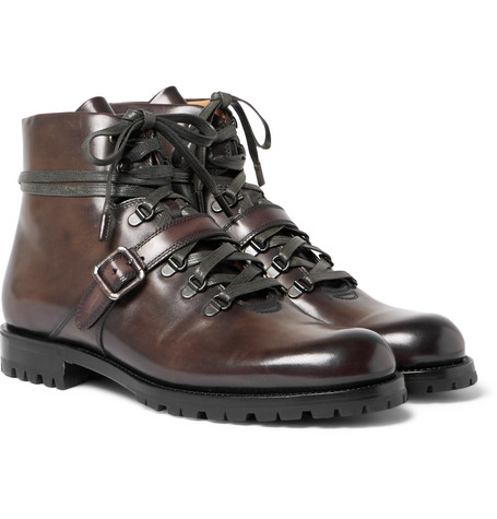 Berluti – Brunico Leather Boots – Chocolate