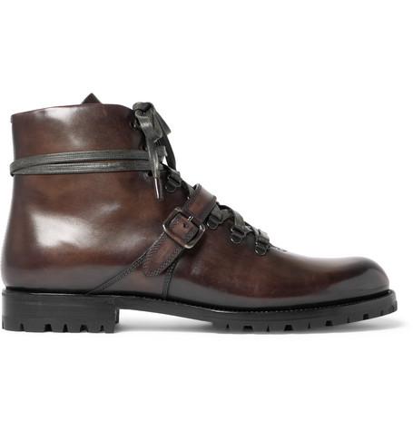Berluti Brunico Venezia Leather Hiking Boot In Brown