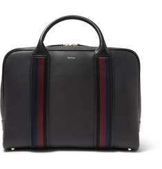 Paul Smith Webbing-Trimmed Full-Grain Leather Briefcase
