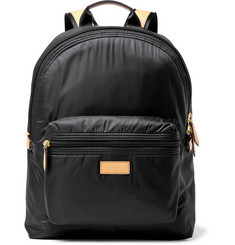 Paul Smith - Leather-Trimmed Shell Backpack