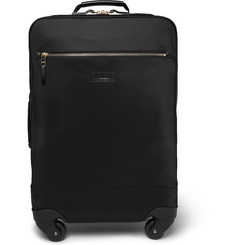 Paul Smith - Leather-Trimmed Shell Carry-On Suitcase