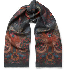 Paul Smith Monkey-Print Wool and Cashmere-Blend Scarf