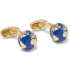 Paul Smith - Gold-Tone Enamel Globe Cufflinks