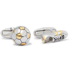 Paul Smith Football and Boot Gold and Silver-Tone Cufflinks