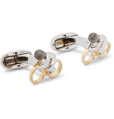 Paul Smith Cyclist Silver and Gold-Tone Cufflinks