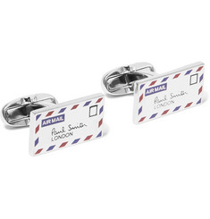 Paul Smith - Letter Enamelled Silver-Tone Cufflinks