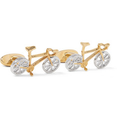 Paul Smith - Racing Bike Gold and Silver-Tone Cufflinks