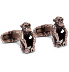 Paul Smith Monkey Burnished Brass Cufflinks