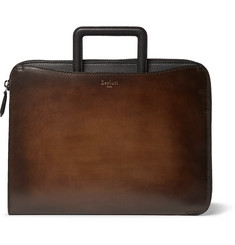 Berluti - Lift Polished and Full-Grain Leather Briefcase