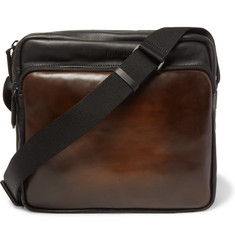 Berluti Two-Tone Leather Messenger Bag