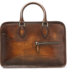 Berluti - Un Jour Mini Scritto Polished-Leather Briefcase