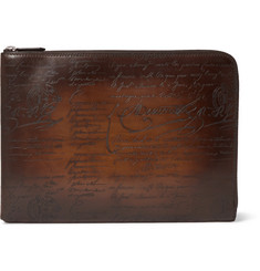 Berluti Gloria Polished-Leather Pouch