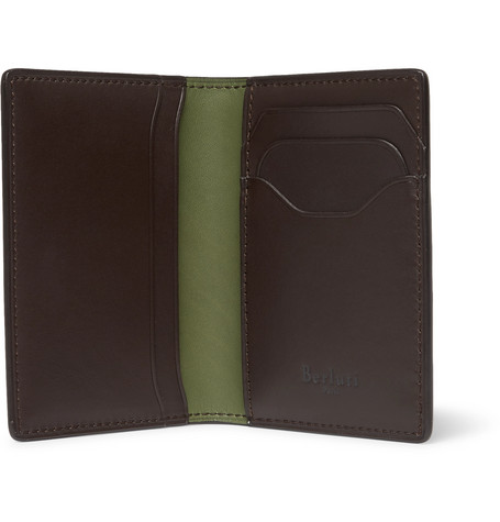 Jagua Leather Bifold Cardholder by Berluti