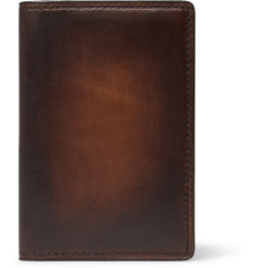 Berluti Jagua Polished-Leather Bifold Cardholder