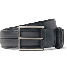 Berluti 3.5cm Grey Gaspard Leather Belt