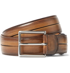 Berluti Brown Polished Venezia Leather Belt