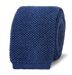 Berluti 6cm Two-Tone Knitted Silk and Cashmere-Blend Tie