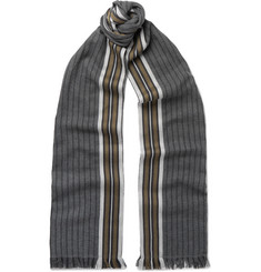 Berluti Striped Cotton Scarf
