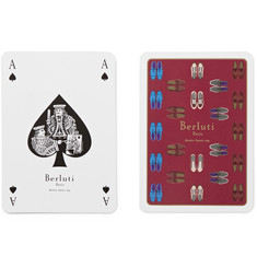Berluti Set of Two Packs of Illustrated Playing Cards