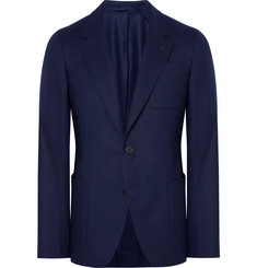 Berluti Blue Slim-Fit Wool Suit Jacket