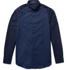 Berluti Slim-Fit Two-Tone Cotton-Poplin Shirt