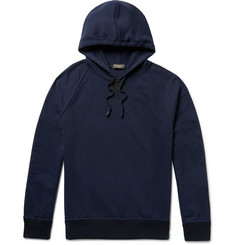 Berluti Nubuck-Trimmed Loopback Cotton and Cashmere-Blend Jersey Hoodie