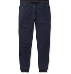 Berluti Tapered Leather-Trimmed Cotton and Cashmere-Blend Sweatpants