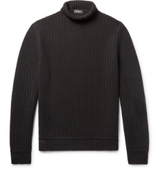 Berluti Textured-Knit Cashmere Rollneck Sweater