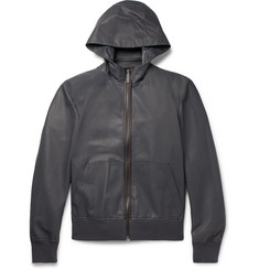 Berluti Leather Hooded Jacket