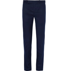 Berluti Blue Slim-Fit Wool Suit Trousers