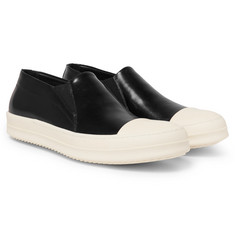 Rick Owens - Rubber Cap-Toe Leather Sneakers