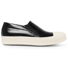 Rick Owens Rubber Cap-Toe Leather Sneakers