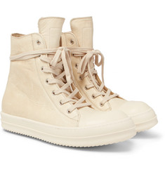 Rick Owens - Cap-Toe Leather High-Top Sneakers
