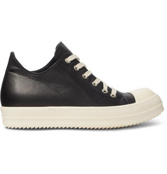 Rick Owens Ramones Cap-Toe Leather Sneakers