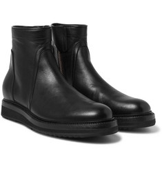 Rick Owens - Creeper Leather Biker Boots