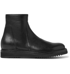 Rick Owens Creeper Leather Biker Boots