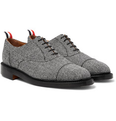Thom Browne - Cap-Toe Herringbone Shetland Wool Oxford Shoes